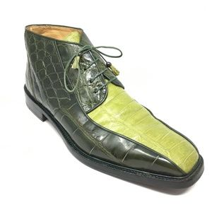 Mauri Ankle Boots Size 13 Green Full Alligator
